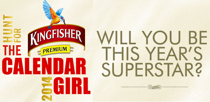 Kingfisher Calendar Girl 2014