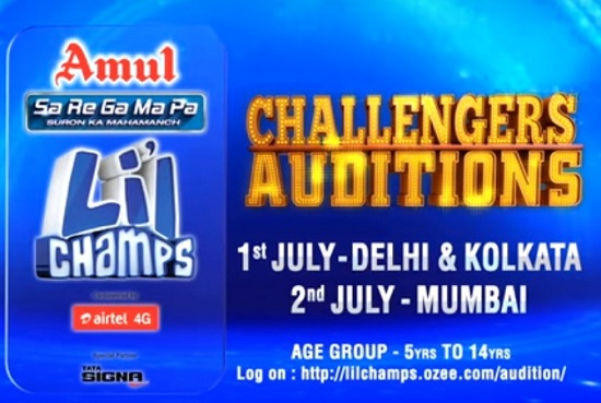 Sa Re Ga Ma Pa Li'L Champs Challengers Auditions | Registration Online 1