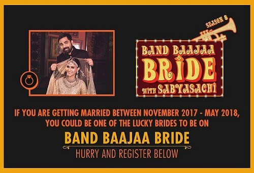Registration Details for Band Baajaa Bride with Sabyasachi